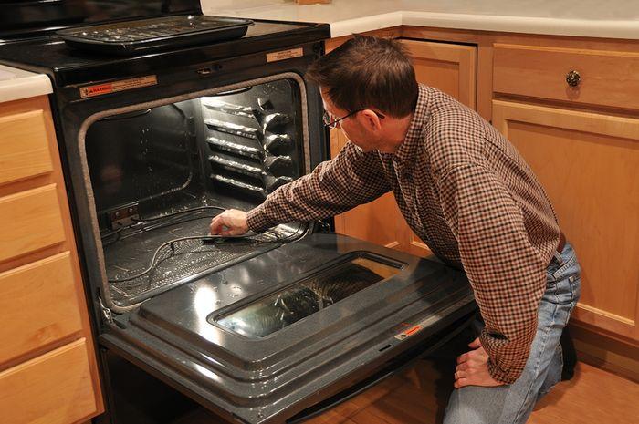 помыть духовку