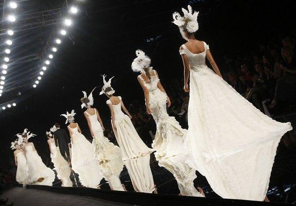 дефиле свадебные платья