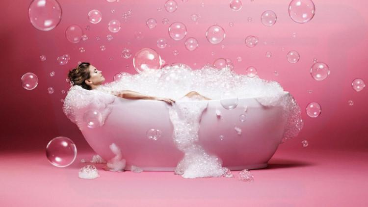пенная ванна, чтобы отдохнуть после работы