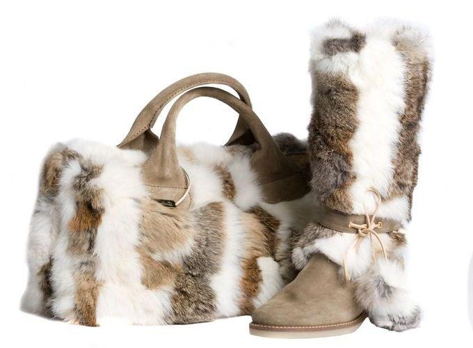 меховая сумка и уги