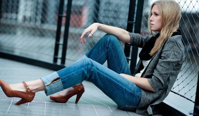 джинсы в романтическом стиле
