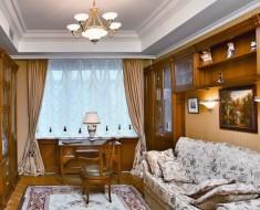 французские шторы в кабинете