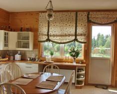 шторы на большой кухне